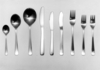 Prototype set of stainless steel cutlery