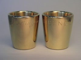 Commissioned pair of gilded silver Beakers, 2009